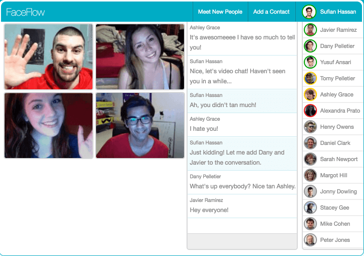 Free Chat & Video Chat With Friends Online | FaceFlow